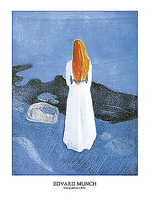 60cm x 80cm Young girl on a Jetty von MUNCH,EDVARD