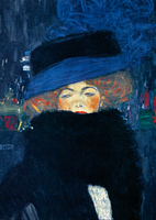 50cm x 70cm Lady with Hat                    von Gustav Klimt