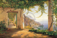 75cm x 50cm View to the Amalfi coast         von Carl Frederic Aagaard