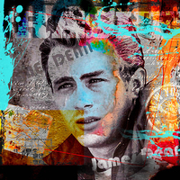 80cm x 80cm James Dean von Micha Baker