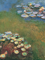 60cm x 80cm Waterlilies, Harmonie in Blue von Claude Monet