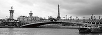 100cm x 35cm Pont Alexandre-III and Eiffel Tower - Pa von Murat Taner